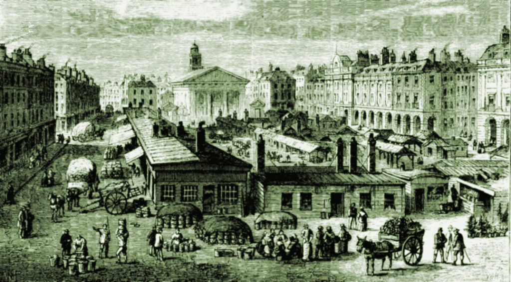 Covent Garden market c1820